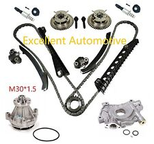 04-08 Ford F150 5.4L 3-Valve Timing Chain Kit w/ Phaser Solenoid Oil Water Pump