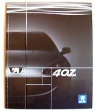 PEUGEOT 407 2 DOOR COUPE 2005 RANGE CAR BROCHURE S SE GT 2.2i 3.0i V6 2.7 HDi V6