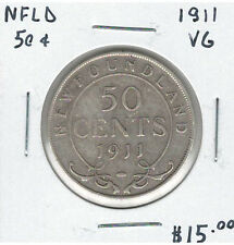 Canada Newfoundland NFLD 1911 Silver 50 Cents VG