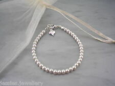 10fh Dainty Pearl Bracelet Bridesmaid Gift Flowergirl Child Size Option Bridal