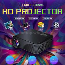Portable HD LED Projector 1800 Lumen 1080P 3D Home Theater Cinema USB HDMI AV SD