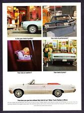 "1964 Pontiac LeMans Coupe Convertible photo ""Your Kind of Price"" promo print ad"