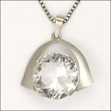 Modernist 835 ARGENTO e collana con pendente cristallo di rocca