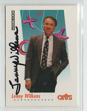 Lenny Wilkens 1991 Skybox signed autographed card Cleveland Cavs