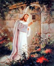Jesus Christ Knocking At the Door Religious and Spiritual Art Print Poster 16x20