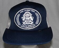 Vintage 1985 Calgary Police Service 100th Anniversay Patch Snapback Hat Cap