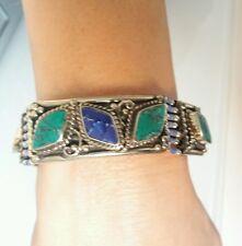BRACELET 100% AFGHAN EN TURQUOISE et Lapis-Lazuli