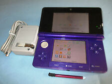 Nintendo 3DS Midnight Purple System Console w/Charger FREE Shipping!