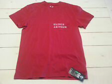 Under Armour Graphic Men's T shirt L Loose Fit Charged Cotton tee Red NWT $29.99
