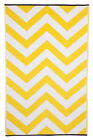 Fab Rugs Indoor & Outdoor Laguna Yellow & White 150cm x 238cm Mat