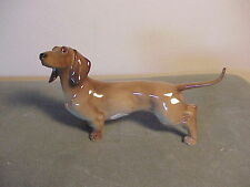 EXQUISITE VINTAGE GERMAN PORCELAIN DACHSHUND DOG FIGURINE - EXTREMELY DELICATE