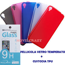 CUSTODIA COVER GEL PELLICOLA VETRO TEMPERATO PER ALCATEL ONE TOUCH IDOL 3 5.5