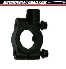 Support de rétroviseur moto cocotte noire PR guidon 22mm vis 10 mm de diamètre