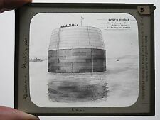 c.1890 FORTH BRIDGE FLOATING CAISSON MAGIC LANTERN SLIDE G W WILSON