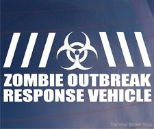 ZOMBIE OUTBREAK RESPONSE VEHICLE Funny Joke Car/Van/Window Vinyl Sticker/Decal