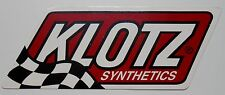 KLOTZ SYNTHETICS OIL STICKER DECAL R/C MOTORCYCLE ATV MARINE SNOWMOBILE IMPORT B