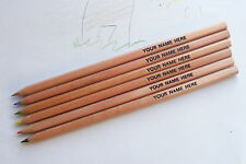 6 Colouring Pencils *Personalised* with 1 name or message