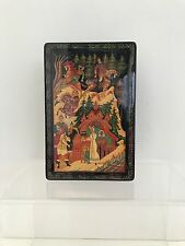 """Palekh Mstera Lacquer Hand Painted Box """"Russian Fairytale"""""""