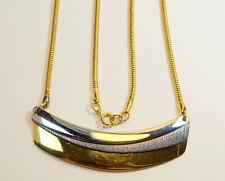 Vintage NAPIER Gold Rhodium Plate Snake Chain Three Metals Modernist Necklace