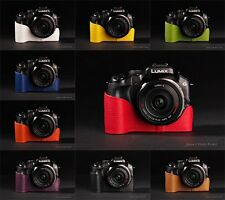 Genuine Real Leather half Camera Case Camera bag for Panasonic G5 10 colors