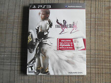 Final Fantasy XIII-2 (Novella in-Pack) (Sony Playstation 3, 2012) Factory Sealed