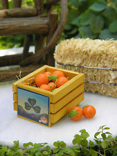 Miniature Dollhouse FAIRY GARDEN Accessories ~ Oranges with Wood Wooden Crate