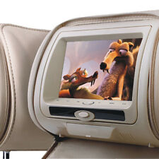 "Universal 7 ""Beige leather-style coche Reposacabezas DVD con Sd/usb/fm audi/bmw/ford"