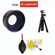 58mm WIDE ANGLE LENS + TRIPOD+GIFTS FOR CANON EOS REBEL T3 T3I 1100D 1200D 550D
