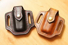 Pancake  leather  holsters  for  Leatherman Wave or Charge