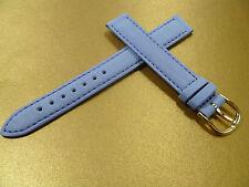 13 mm BLAU HELLBLAU FLIDER UHRENARMBAND DORNSCHLIEßE KALBSLEDER UHRENBAND LEDER