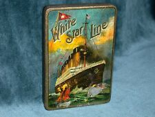 Rare Titanic OLYMPIC Cigarettes Tin 1911 with original packaging
