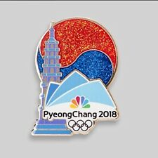 NBC PyeongChang 2018 Olympic Pin Badge Media PAGODA