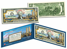 World Trade Center 9/11 Skyline *COLORIZED* Legal Tender $2 U.S. Bill -NEW NOTE