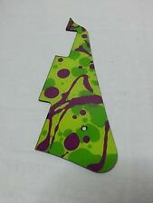 Replacement Pick Guard for your Gibson Les Paul -Custom Painted-Green and Purple