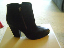 MICHAEL Michael Kors Denver Bootie Black Leather Ankle Boot Size 7M NIB