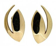 Estate 1960'S Artist Style Ufo Solid 18k Yellow Gold Comet Designer Earrings