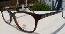 Oleg Cassini OCO355 Brown Eyeglass Frames Women's Glasses Rx-able MSRP $100 ET
