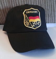 Germany Baseball Cap German Flag in Emrodied Shield Hat