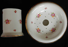 Porte-éponge et Pot LAURA ASHLEY Fine bone china England (très bon état)