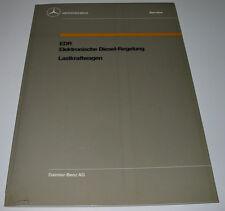 Werkstatthandbuch Mercedes LKW Lastwagen EDR Elektronische Diesel Regelung 1988!