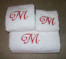 Embroidered Personalised Bath Towel Set-Bath,Hand and Wash Cloth