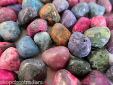 Dyed Agate QTY 1/2 LB Tumbled Stones Healing Crystals Protection Travel Artists