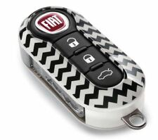 Fiat & Abarth 500 500L Gloss Chevrons Two Piece Key Cover New & GENUINE Fiat