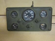Military Jeep Stewart Warner Instrument Panel Gauge Cluster