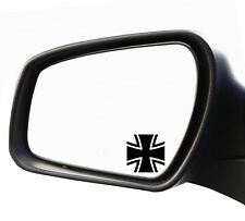 2x Adesivo Specchietto Croce Di Ferro Targa Riconoscimento Bundeswehr iron