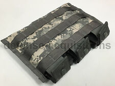 NEW US Military MOLLE Triple Mag Magazine Pouch ACU Digital