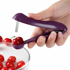 Cherry Pitter Olives Pits Stoner Removal Core Squeeze Grip Kitchen Tool