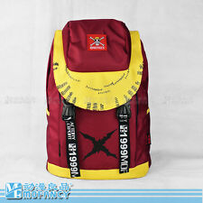 one piece luffy red oxford backpack school travel shoulder bag new