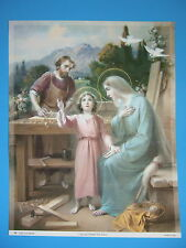 """Catholic Print Picture Large -  HOLY FAMILY at Nazareth 13x17"""" ready to frame"""