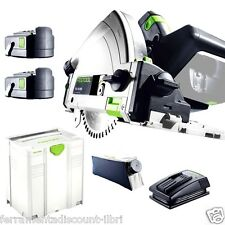 PLUNGE CUT CIRCULAR SAW CORDLESS FESTOOL TSC 55 REB PLUS LI 201389 festo tools